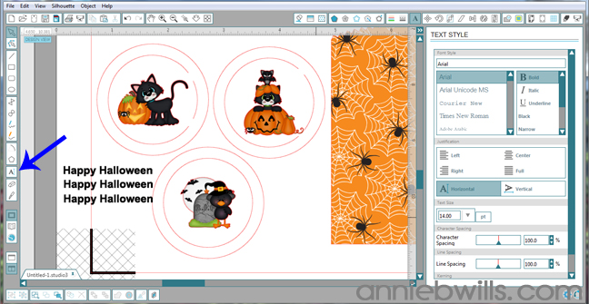 7 Print and Cut Halloween Treat Bags by Annie Williams - Type Text