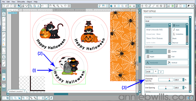 8 Print and Cut Halloween Treat Bags by Annie Williams - Text to Path