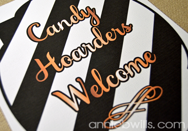 Candy Hoarders Welcome Signs by Annie Williams - Detail