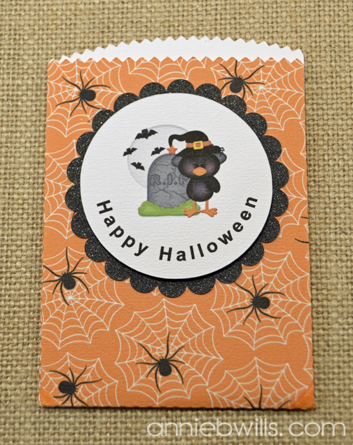 Print and Cut Halloween Treat Bags by Annie Williams - Orange Detail