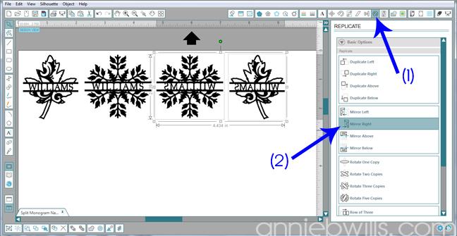 10 Split Monogram Napkins by Annie Williams - Mirror Shapes
