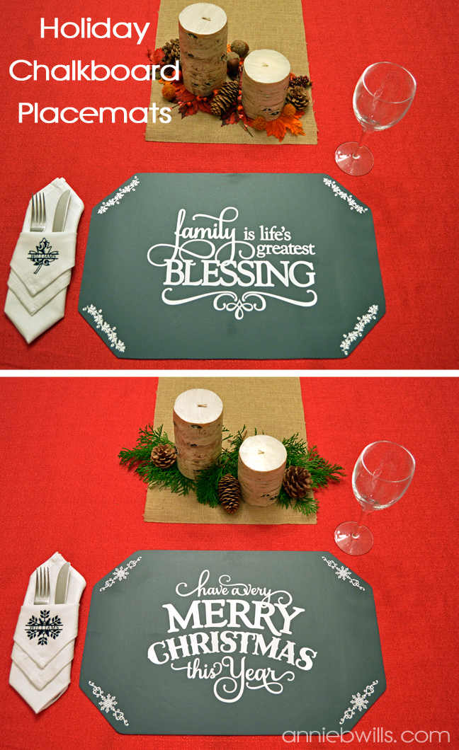 Holiday Chalkboard Placemats by Annie Williams - Main