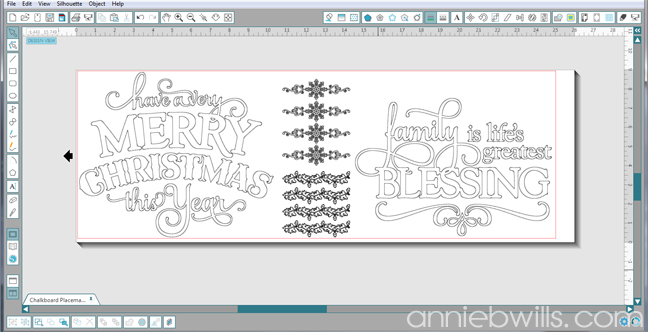 Holiday Chalkboard Placemats by Annie Williams - Screenshot