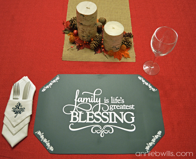 Holiday Chalkboard Placemats by Annie Williams - Thanksgiving