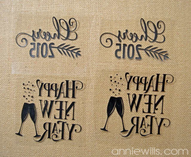 Burlap New Year S Eve Coasters Lab Hands