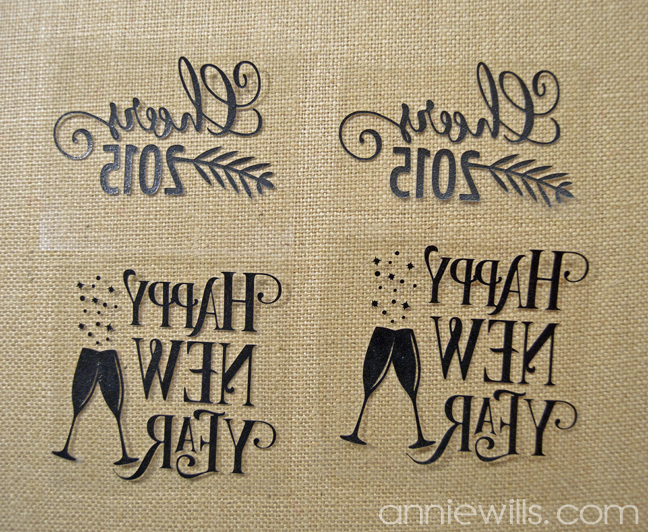 Burlap New Years Eve Coasters by Annie Williams - Weeding