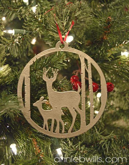 Faux Metal Christmas Ornaments by Annie Williams - Deer Detail