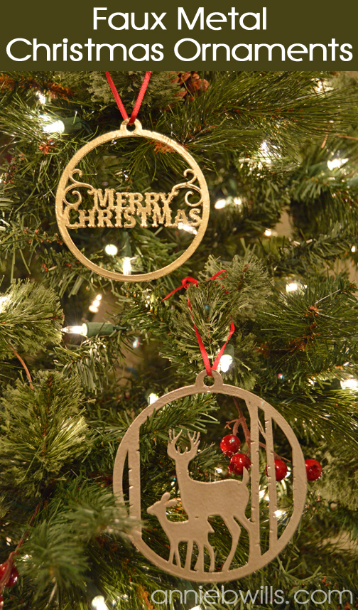 Faux Metal Christmas Ornaments by Annie Williams - Main