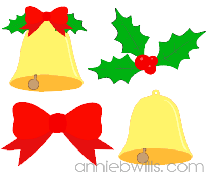 Holly Bell and Bow Freebie