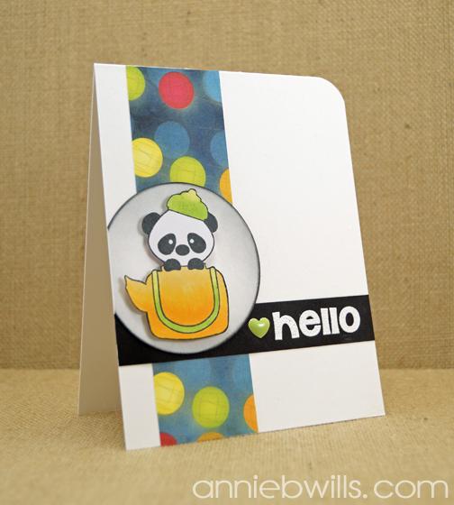 Hello Panda Card by Annie Williams - Main