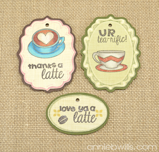 Latte Love Gift Tags by Annie Williams - Detail