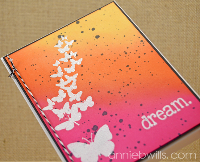 Dream in Color Card by Annie Williams - Orange Detail 2