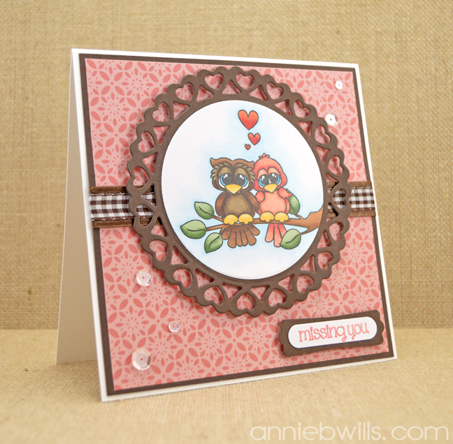 Owl Be Missing You Card by Annie Williams - Main