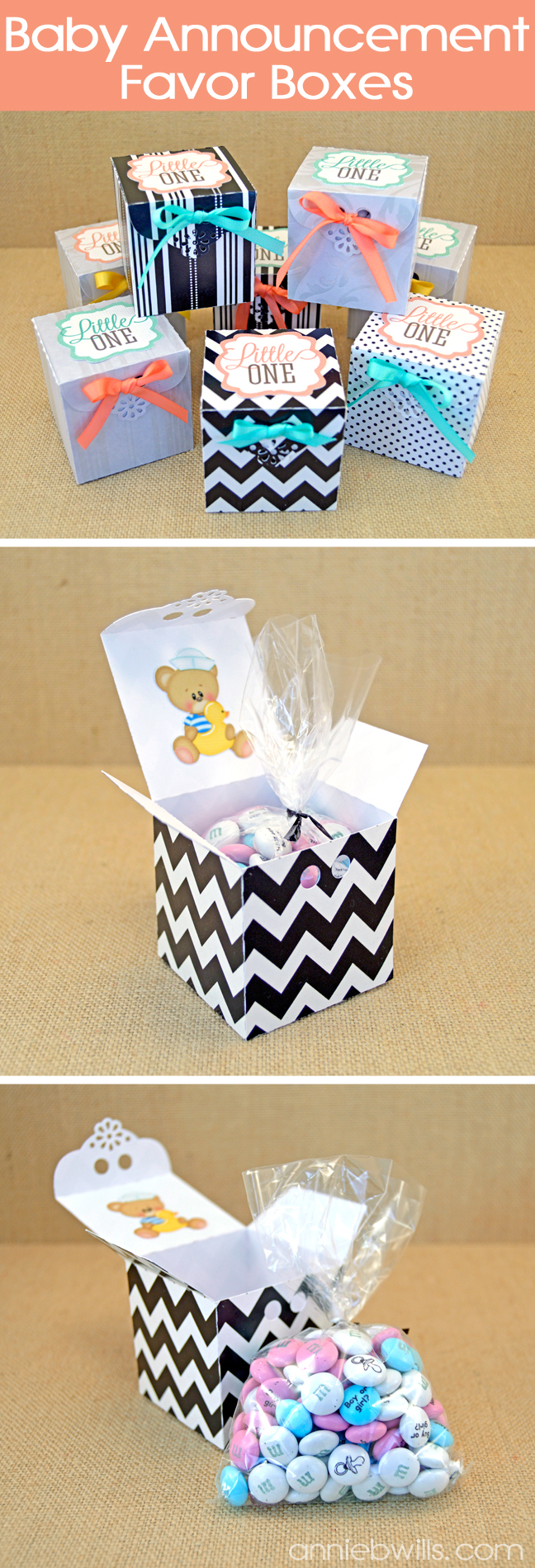 Baby Announcement Favors by Annie Williams - Collage