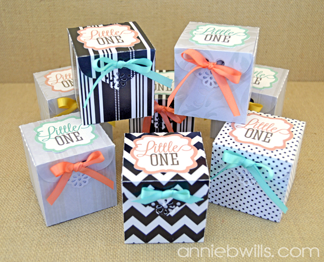 Baby Announcement Favor Boxes Lab Hands – Baby Announcement Party