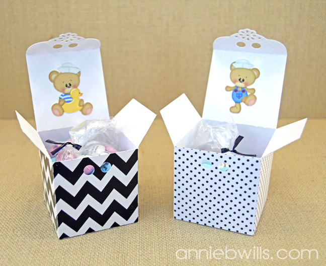 Baby Announcement Favors by Annie Williams - Opened Boxes