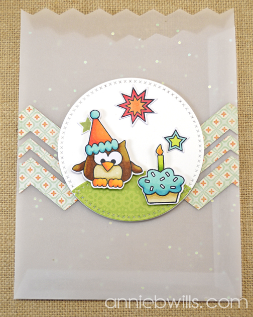Birthday Owl Treat Bags by Annie Williams - Cupcake Detail