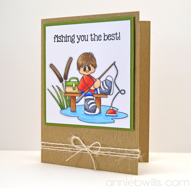 Fishing You The Best Card by Annie Williams - Full