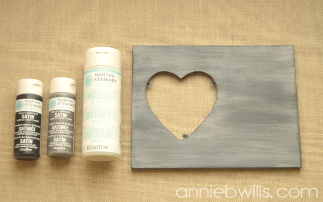 Foiled Picture Frame by Annie Williams - Distressed Painting