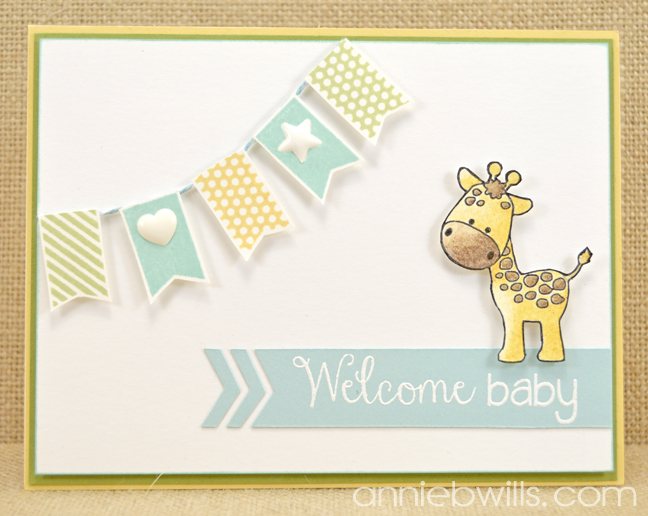 Welcome Baby Banner Card by Annie Williams - Full