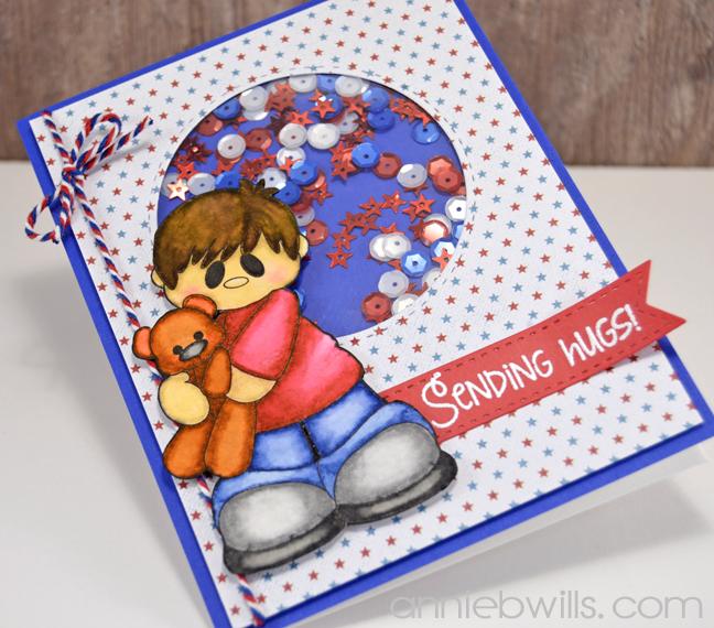Sending Patriotic Hugs Card by Annie Williams - Side
