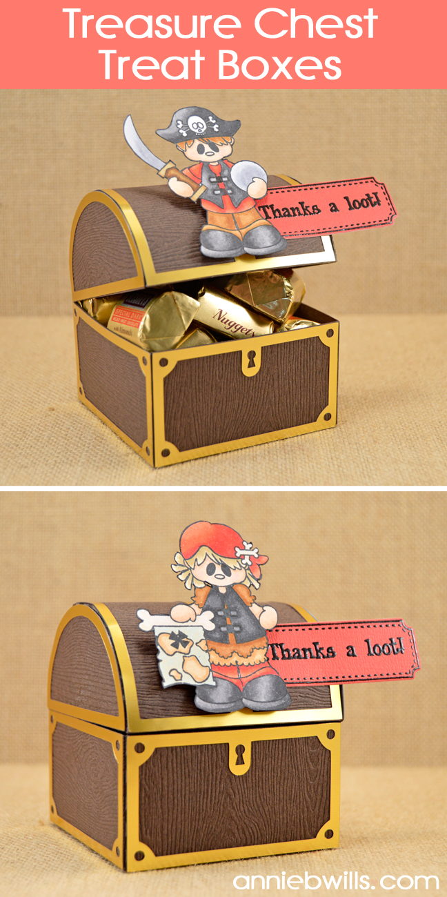 Treasure Chest Treat Boxes by Annie Williams - Main