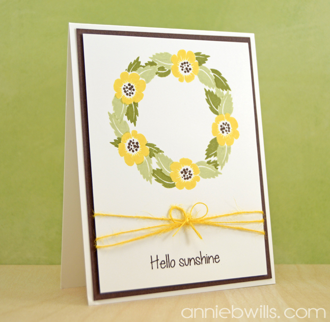 Sunflower Wreath Card by Annie Williams - Main
