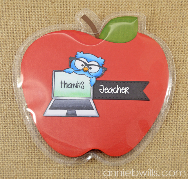 Teacher Thank You Gift Pockets by Annie Williams - Laptop Detail