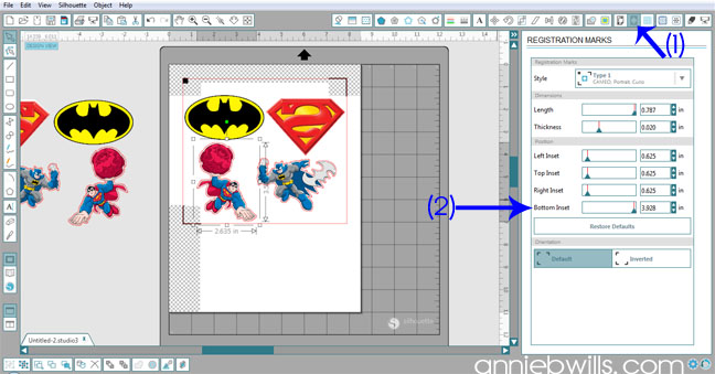 Superhero Onesies by Annie Williams - Adjust Registration Marks