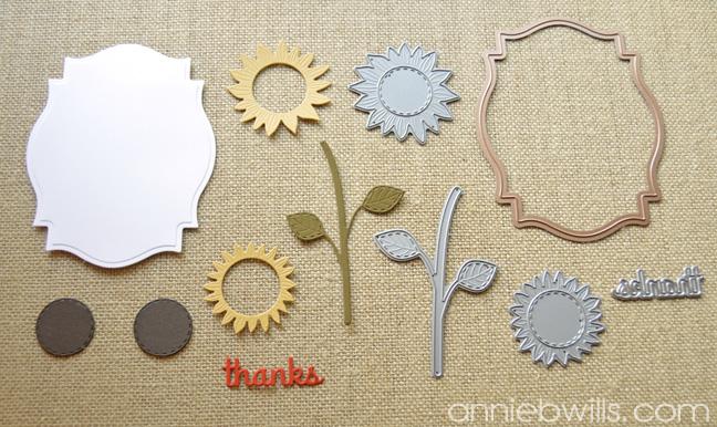 Autumn Thank You Card by Annie Williams - Die-Cutting