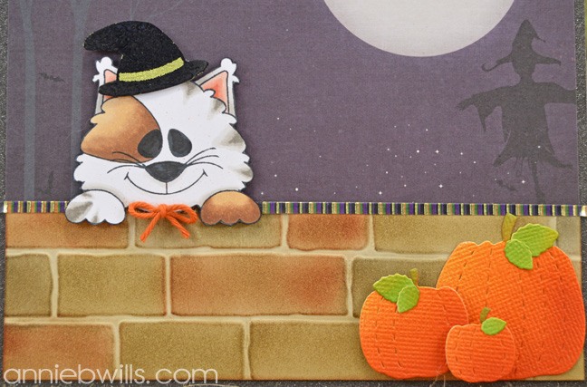 Peekaboo Kitty Halloween Card by Annie Williams - Detail