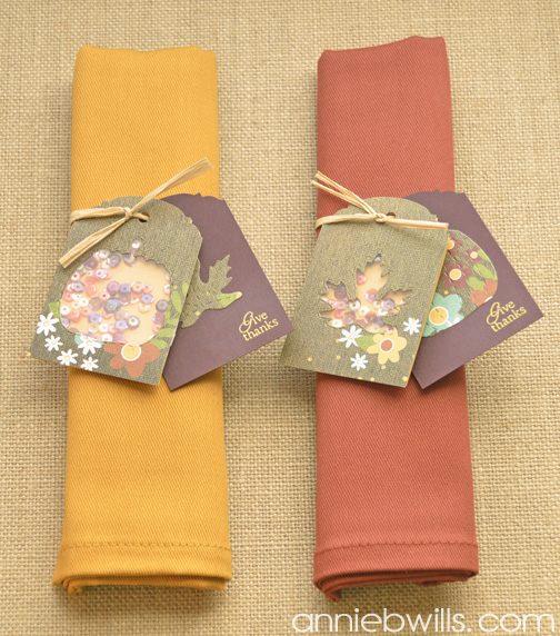 Thanksgiving Shaker Napkin Rings by Annie Williams- Full