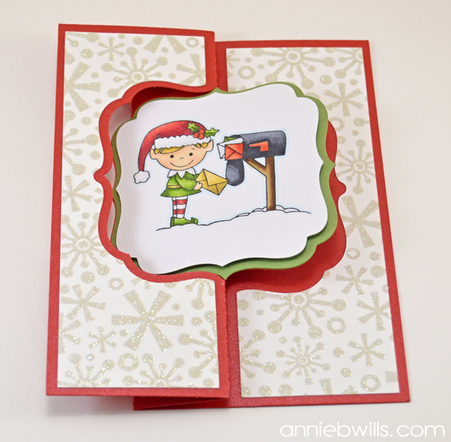 Christmas Swing Card by Annie Williams - Assembled