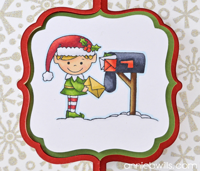 Christmas Swing Card by Annie Williams - Outside Detail