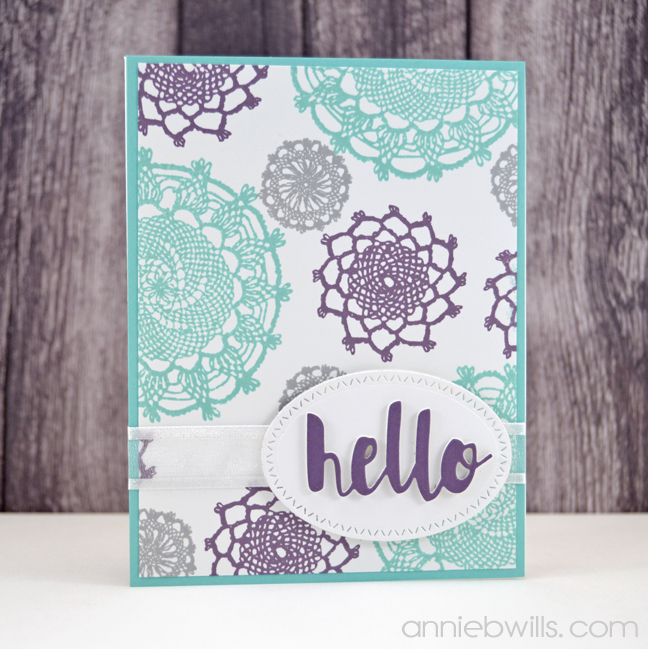 Lacey Hello Card by Annie Williams - Side
