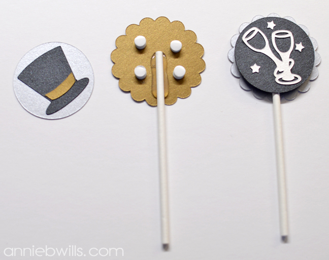 New Year's Eve Cupcake Toppers by Annie Williams - Foam Dots