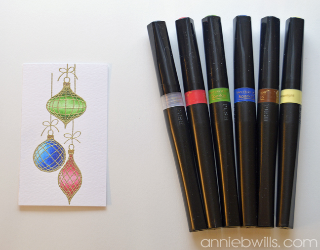 Sparkle and Shine Christmas Card by Annie Williams - Coloring