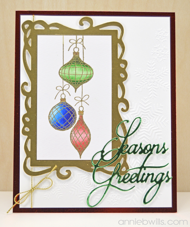 Sparkle and Shine Christmas Card by Annie Williams - Full