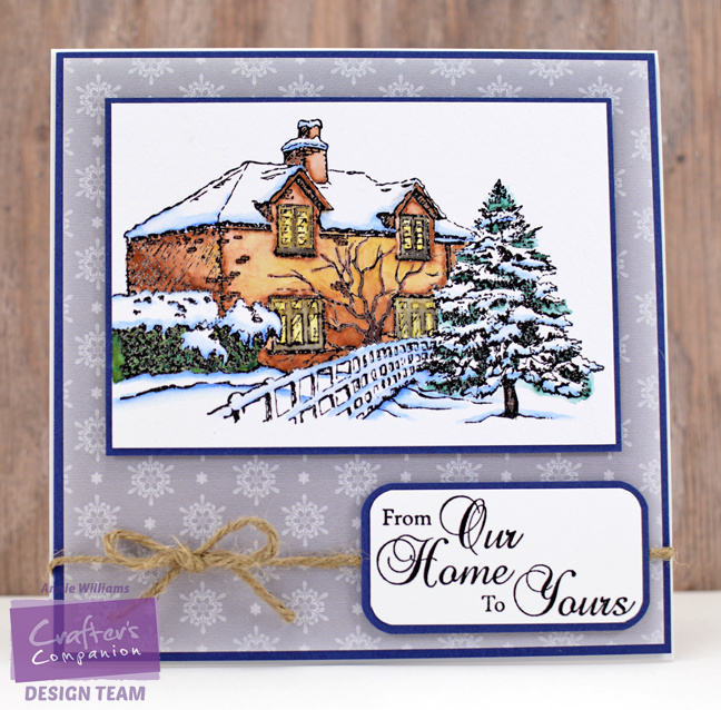 Watercolor Christmas House Card by Annie Williams - Full