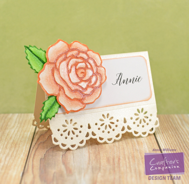 Springtime Rose Party Decor by Annie Williams - Placecard
