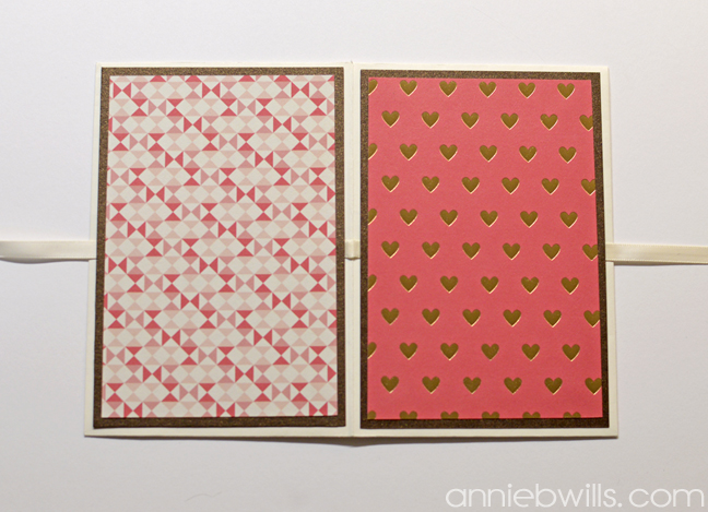 Valentines Day Gift Card Wallet by Annie Williams - Outside Panels