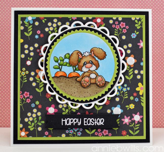 Easter Bunny Farmer Card by Annie Williams - Full
