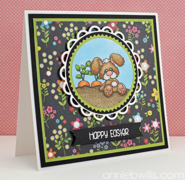 Easter Bunny Farmer Card by Annie Williams - Main