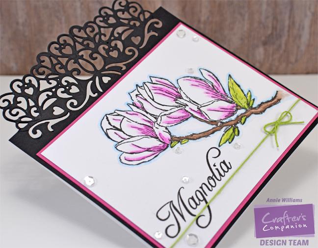 Magnolia Card by Annie Williams - Side
