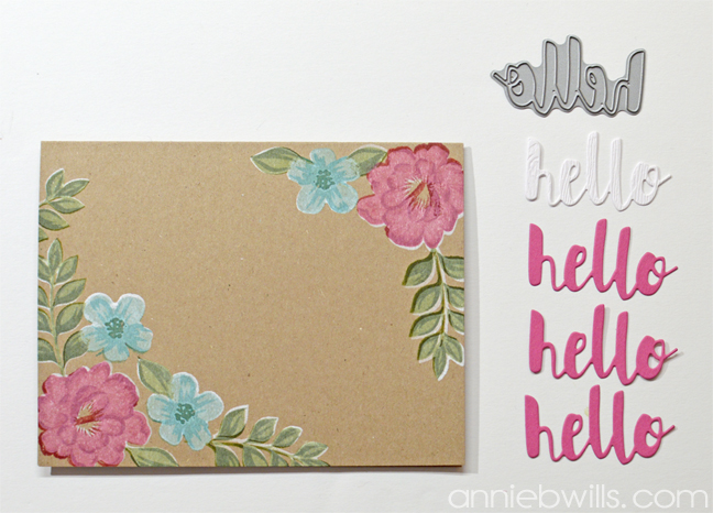 Painted Blooms Card by Annie Williams - Die-cutting