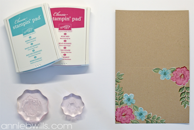 Painted Blooms Card by Annie Williams - Layer 3