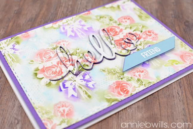 Camouflaged Die-cut Card by Annie Williams - Detail