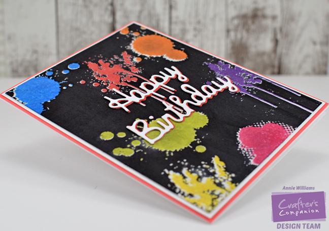 Happy Birthday Graffiti Card by Annie Williams - Detail