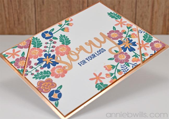 Rose Gold Sympathy Card by Annie Williams - Side