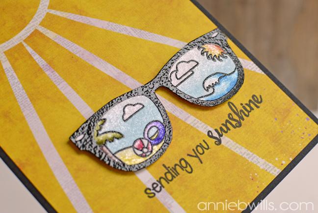Sending Sunshine Card by Annie Williams - Detail
